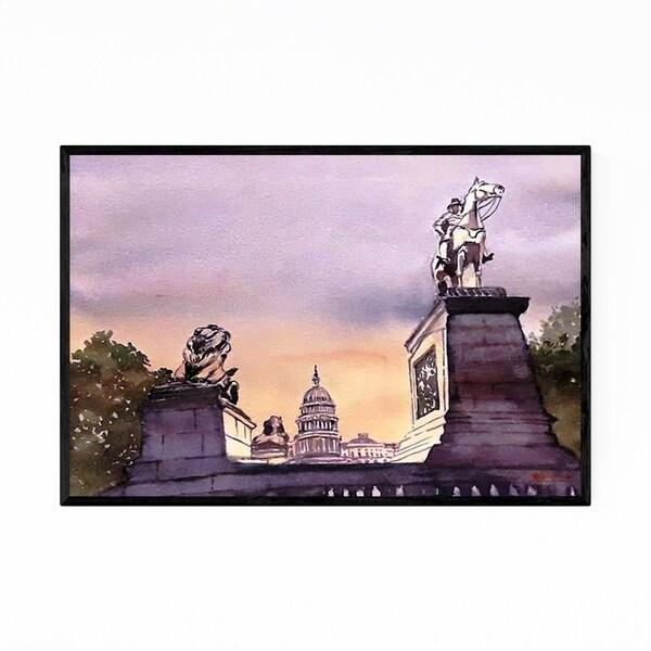 Noir Gallery Washington DC Capitol Painting Framed Art Print