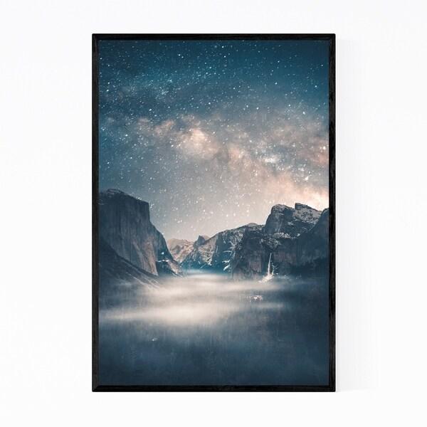 Noir Gallery Yosemite California Milky Way Framed Art Print