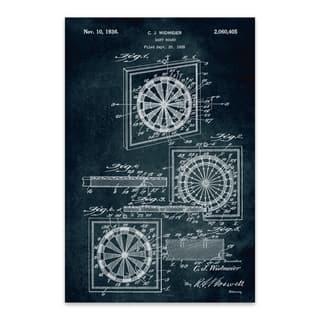Noir Gallery Dart Board Game Patent Print Metal Wall Art Print