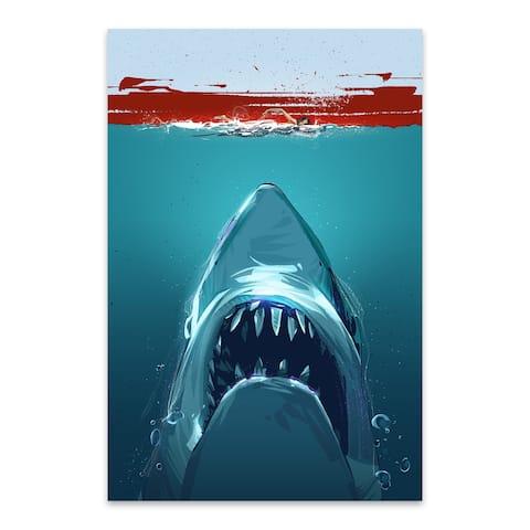 Noir Gallery Jaws Movie Metal Wall Art Print