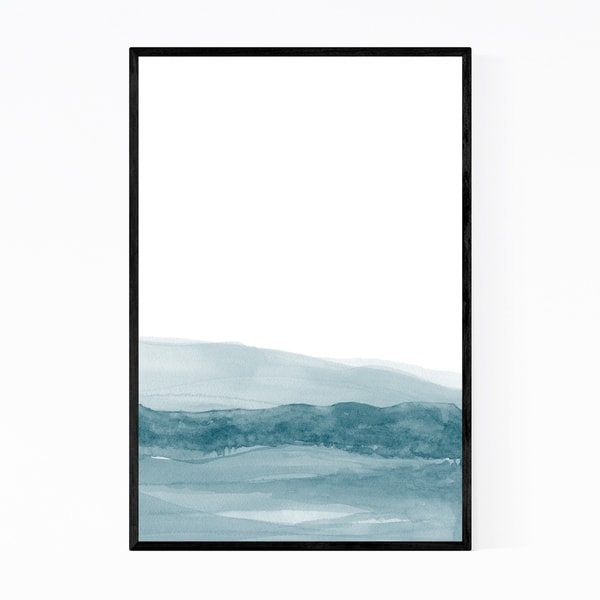 Noir Gallery Watercolor Abstract Shapes Minimal Framed Art Print