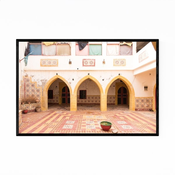 Noir Gallery Morocco Architecture Arches Framed Art Print
