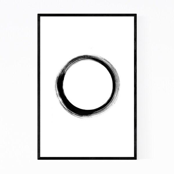 Noir Gallery Simple Zen Minimal Abstract Framed Art Print