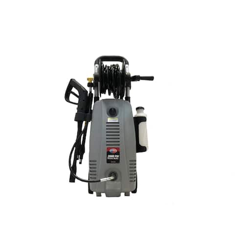 2000 PSI 1.6 GPM Electric Pressure Washer with Hose Reel for Buildings, Walkway, Vehicles and Outdoor Cleaning - N/A