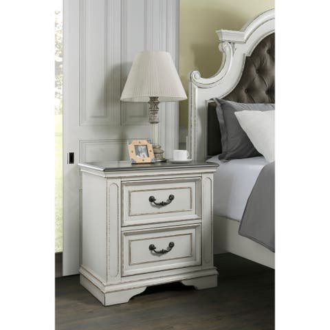Martin Svensson Home Grove Hill 2 Drawer Nightstand with USB Charger
