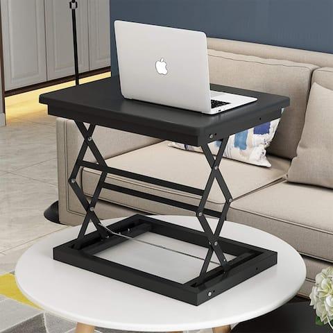 Foldable Desk Table Height Adjustable Black