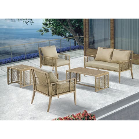 Madison Park Vale Natural Patio Lounge Chair