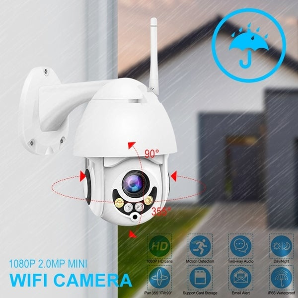 Shop 1080P WiFi Camera Wireless Security IP Camera IP66 IR