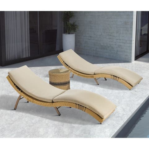 Madison Park Panorama Natural Outdoor Chaise Lounge