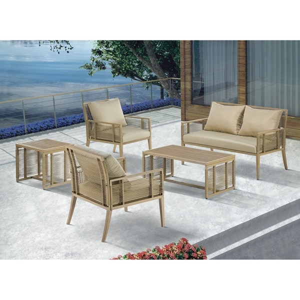 Madison Park Vale Natural Patio End Table