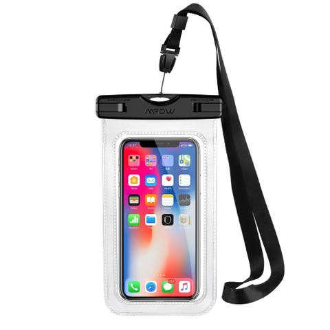 Mpow Waterproof Case IPX 8 Cellphone Dry Bag Waterproof Pouch Cellphone Bag for iPhone 6/6s/7/7 Plus Google Pixel