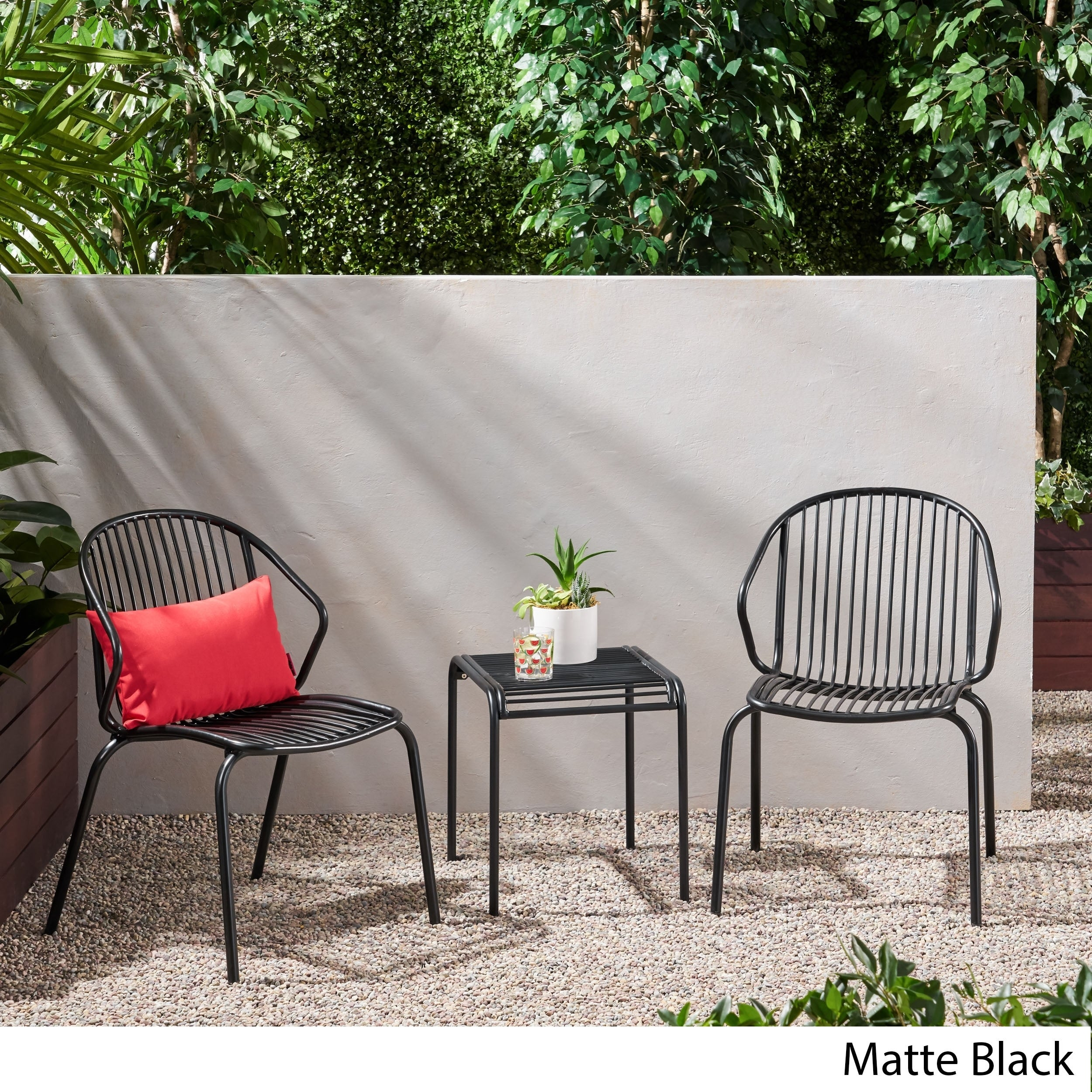 Boston Outdoor Modern 2 Seater Chat Set By Christopher Knight Home