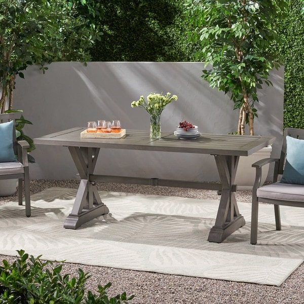 Lamphere Modern Outdoor Aluminum Dining Table by Christopher Knight Home. Opens flyout.