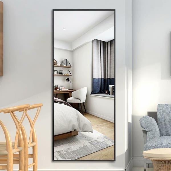 Shop Modern Full Length Floor Mirror Freestanding In Living