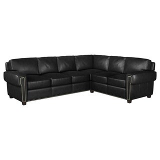 Made to Order Como 100% Top Grain Leather Sectional - Left Arm Facing