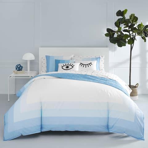 Now House by Jonathan Adler Vally Blue Cotton Duvet Cover Set