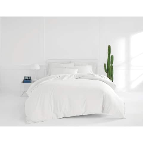 Now House by Jonathan Adler Otto White Duvet Cover Bonus Sheet Set