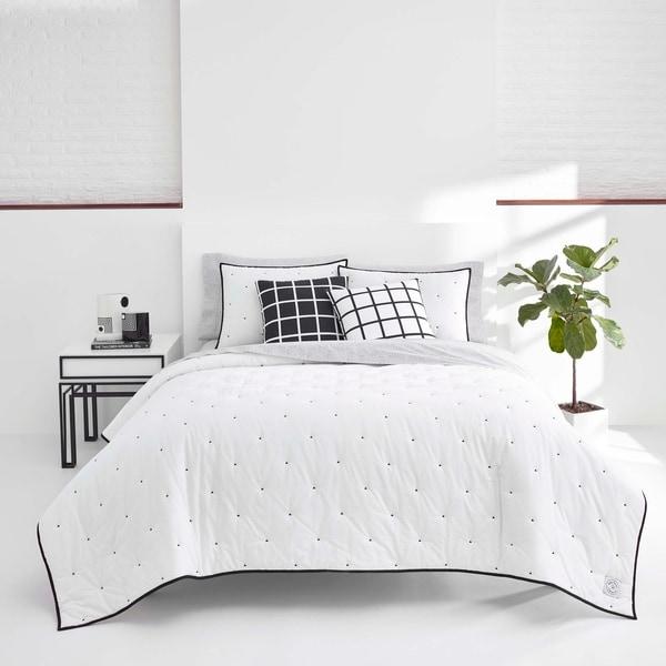 Now House by Jonathan Adler Pompeia White Cotton Quilt Set