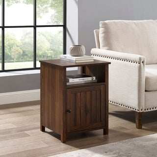 """The Gray Barn 18"""" Grooved Door Side Table - 18 x 16 x 24H"""