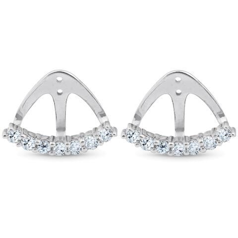 14k White Gold 3/4 Ct TDW Diamond Stud Earring Jacket