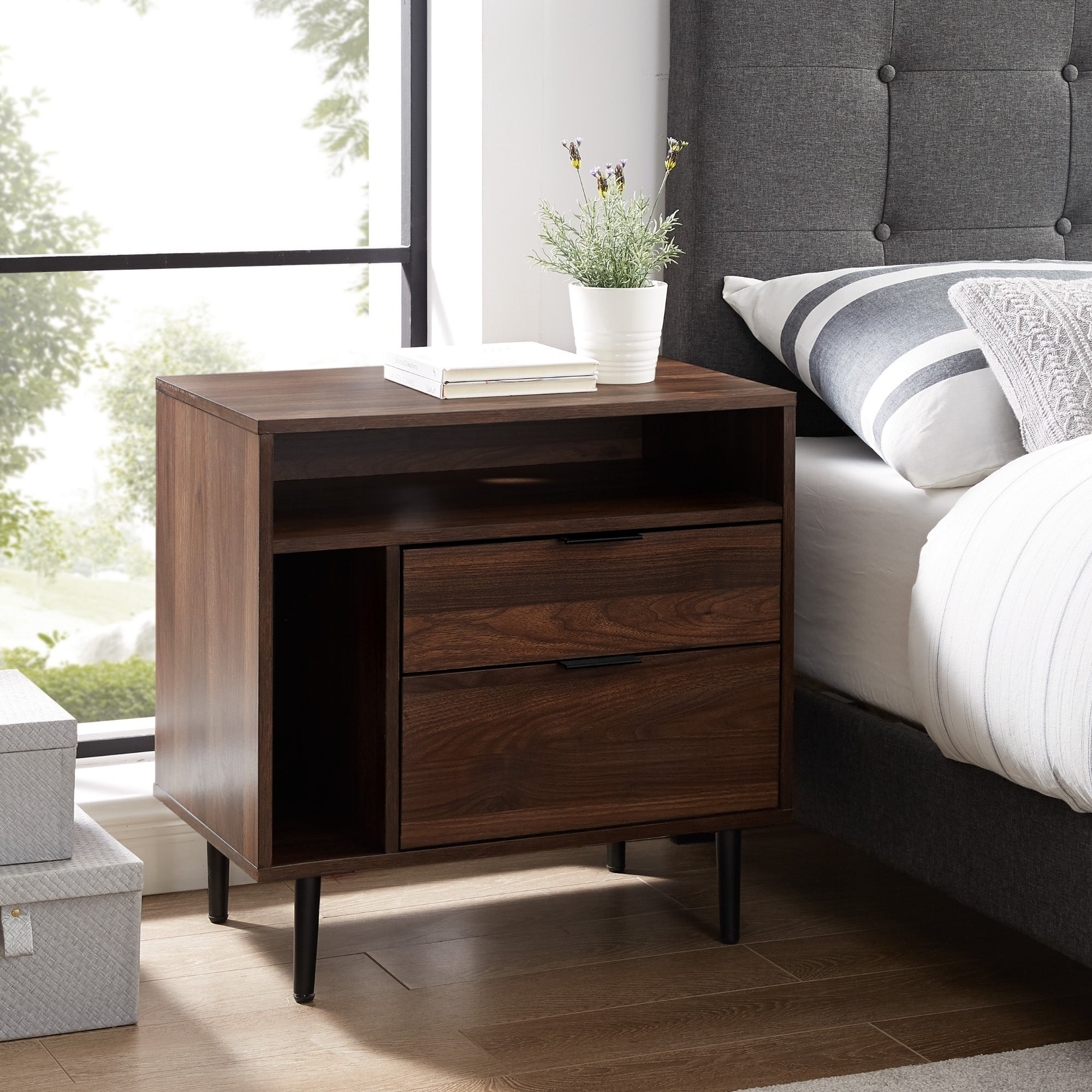 Carson Carrington 25 Modern Storage Nightstand