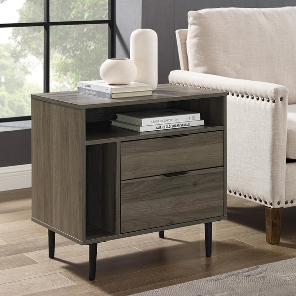 Carson Carrington 25-inch Modern Storage Side Table