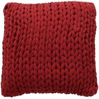 "Cheer Collection Chunky Cable Knit 18""x18"" Decorative Couch Throw Pillow"