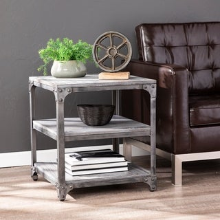 Carbon Loft Connewell Industrial Gray Wood Accent Table