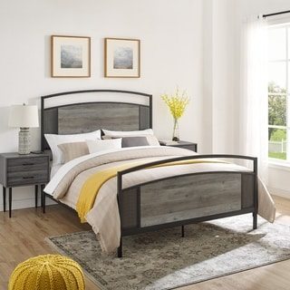 Carbon Loft Queen Industrial Mesh Panel Bed