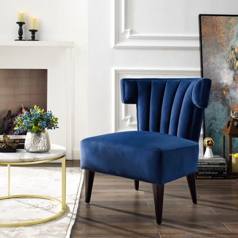 Emory Armless Velvet Accent Chair