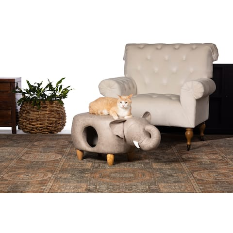Prevue Pet Products Gray Elephant Ottoman - N/A