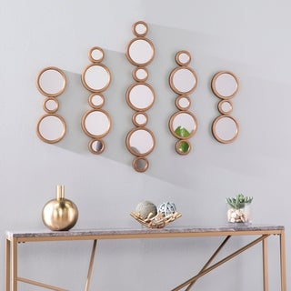 Silver Orchid Melandra Midcentury Modern Gold Metal Wall Decor (Set of 5)