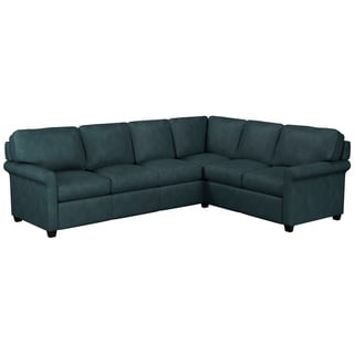 Link to Made to Order Asti Genuine Top Grain Leather Sectional - Left Arm Facing Similar Items in Living Room Furniture