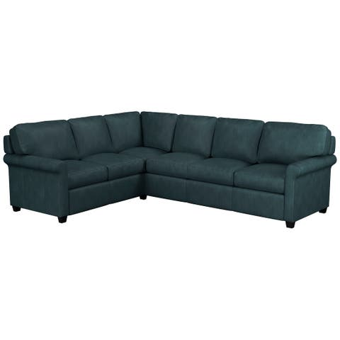 Made to Order Asti Genuine Top Grain Leather Sectional - Right Arm Facing