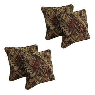 Blazing Needles 18-inch Tapestry Throw Pillows (Set of 4)