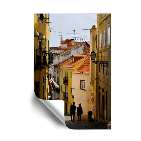 Kathy Yates Alley in Lisbon Portugal Removable Wall Art Mural
