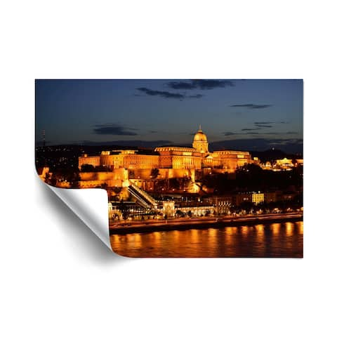 Kathy Yates Budapest Castle at Night Removable Wall Art Mural