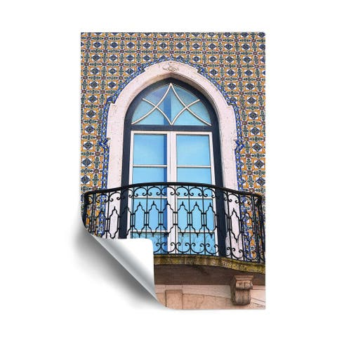 Kathy Yates Tiled Balcony in Lisbon Removable Wall Art Mural
