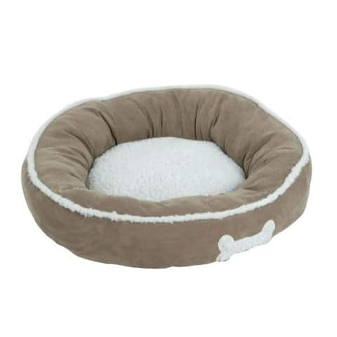 Petmate Assorted Sheepskin Round Pet Bed 6 in. H x 22 in. W