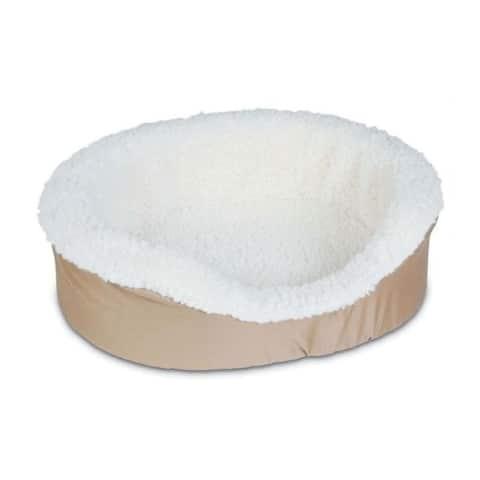 Petmate Assorted Sheepskin Oval Pet Bed 7 in. H x 21 in. W x 16 in. L