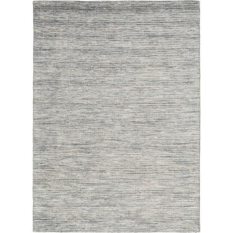 "Strive Hand-Loomed Grey Area Rug - 7'6""x9'6"""