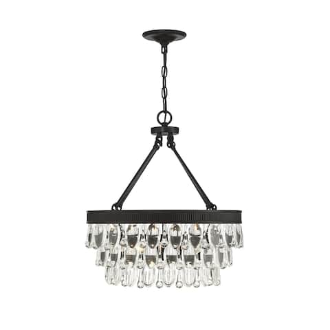 Windham 4 Light English Bronze Pendant