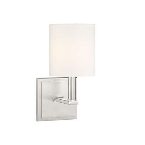 Waverly 1 Light Satin Nickel Sconce
