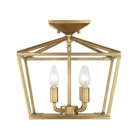 Townsend 4 Light Warm Brass Semi-Flush Mount