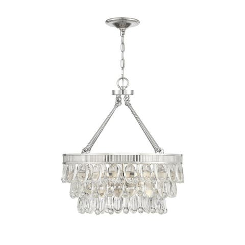 Windham 4 Light Polished Nickel Pendant