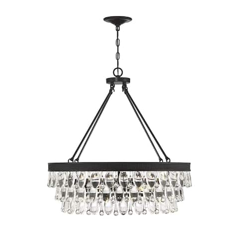 Windham 6 Light English Bronze Pendant