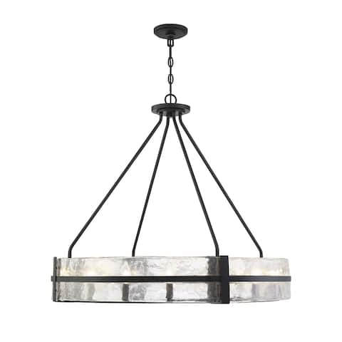 Hudson 12 Light Matte Black Pendant