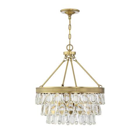 Windham 4 Light Warm Brass Pendant