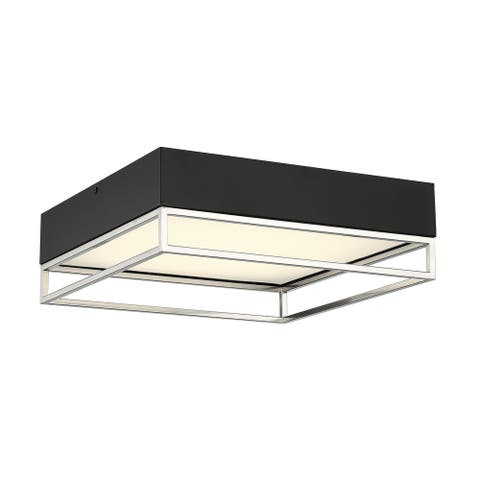 Creswell Satin Nickel Square LED Flush Mount