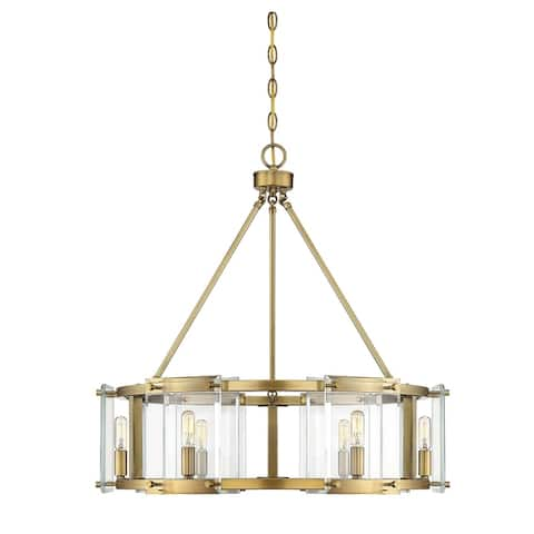 Prescott 6 Light Warm Brass Pendant